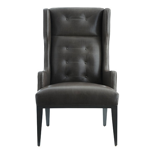 Modern Leather Button Tufted Wing Chair