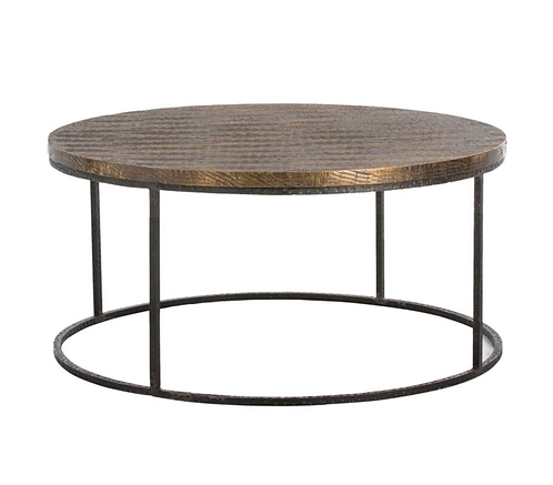 Antique Brass Cocktail Table