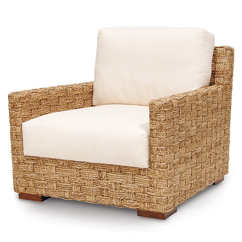 Hand Braided Seagrass Lounge Chair