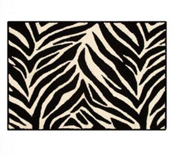 Zebra Stripes Rug Hooked