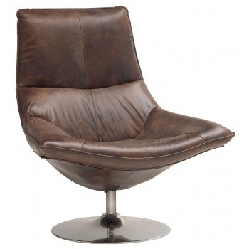 Carthage Leather Lounge Chair