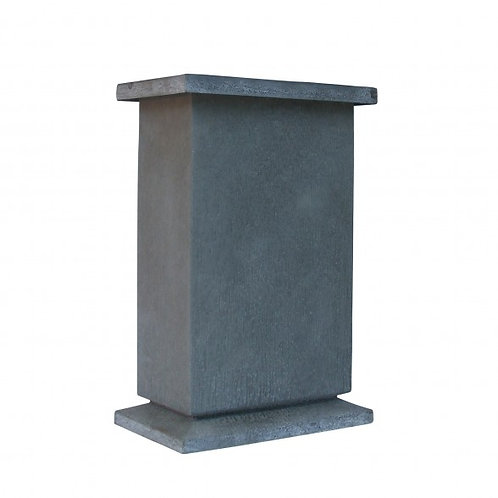 Slim Gray Metal Entry Planter