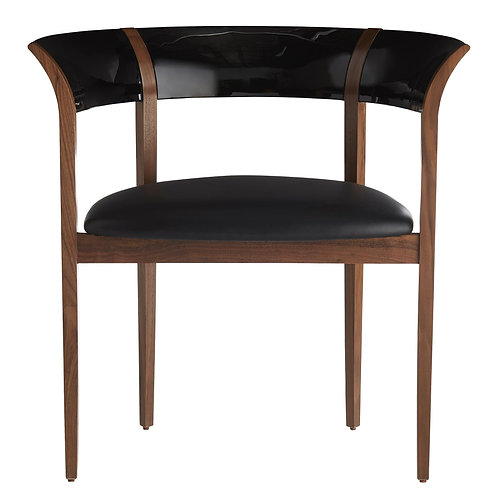Black Leather Seat Dining/ Occasional Chair