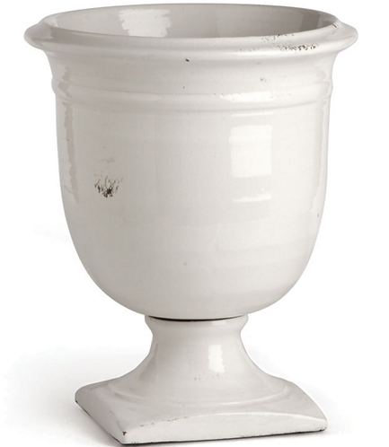 Large Classic Footed Urn in White