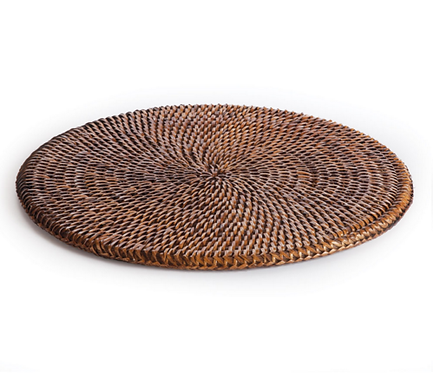 S/6 Round Rattan Placemats
