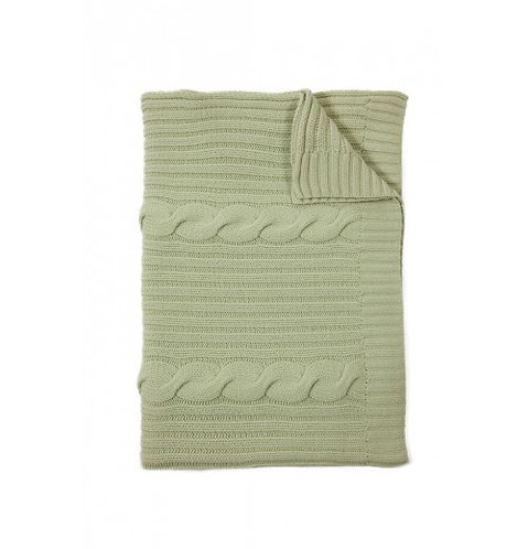 Cashmere Cable Throw Celery