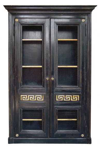 PARIS Greek Bookcase / Armoire in Noir