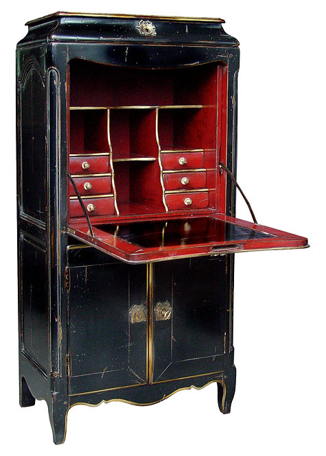 PARIS Regency Secretary Desk in Noir