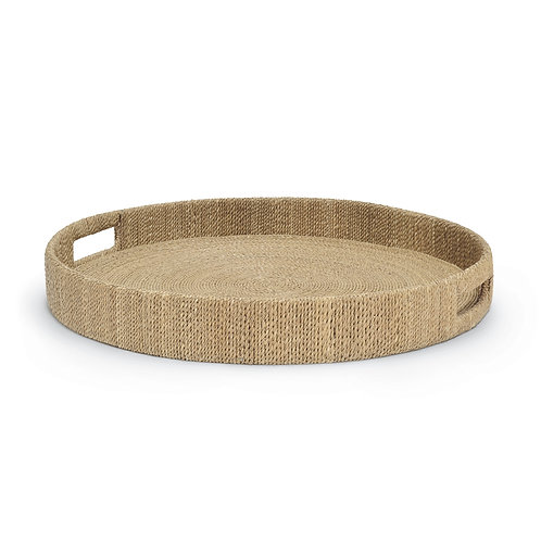 Natural Seagrass Round Tray Large