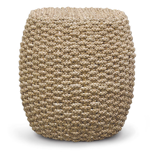 Hand Braided Seagrass Round Drum Stool /Side Table