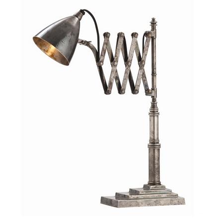 Vintage Silver Desk Lamp