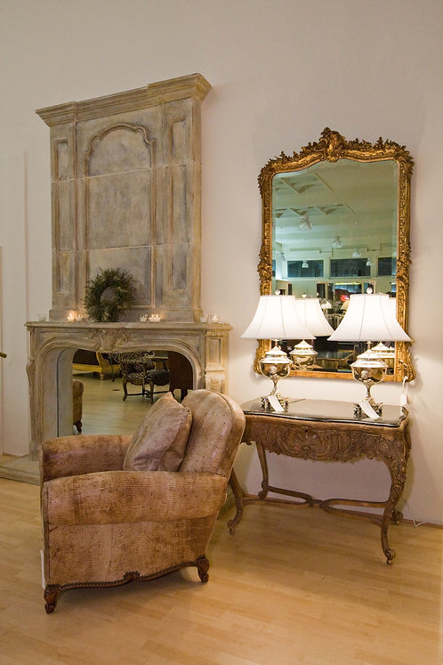 French Antique Louis XV Style Mirror