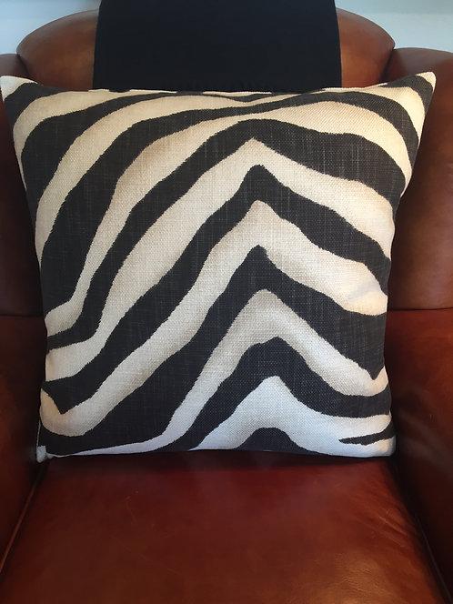 PAIR Ralph Lauren Tangiers Zebra in Ebony Decorative Pillows