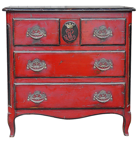 PARIS Commode Medaillon in Rouge
