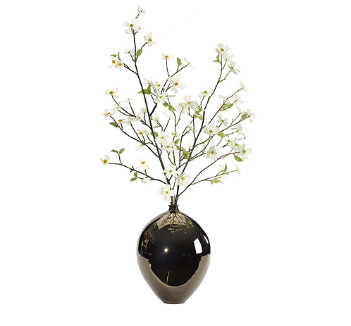 Dogwood Branch in Tear Drop Bronze Glaze