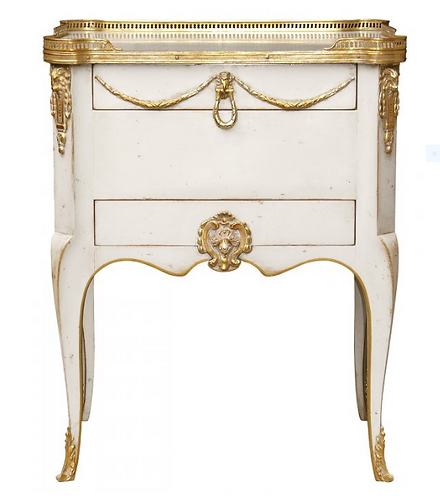 PARIS Petit Living Room Writing Desk in Blanc