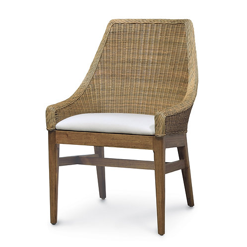 PAIR Woven Dining Chair with Seat Cushion