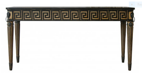 PARIS Greek Style Decorations Console with Marble Top