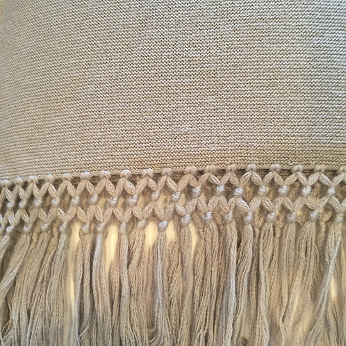 Yves Delorme Gray Alpaca Wool Throw