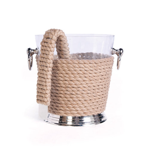 Rope Ice Bucket and Tongs