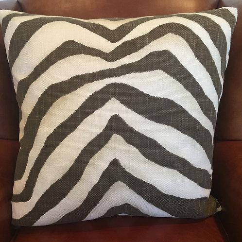 PAIR Ralph Lauren Tangiers Zebra in Java Decorative Pillows