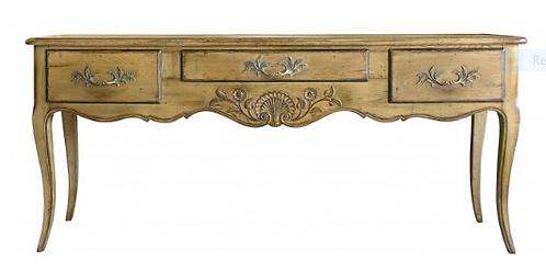PARIS Regency Hunting Table in Stripped Oak