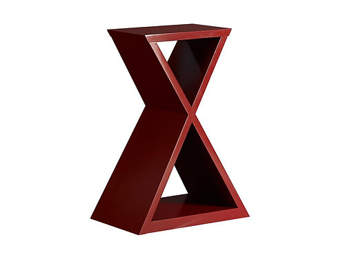 X Pedestal Table / Red