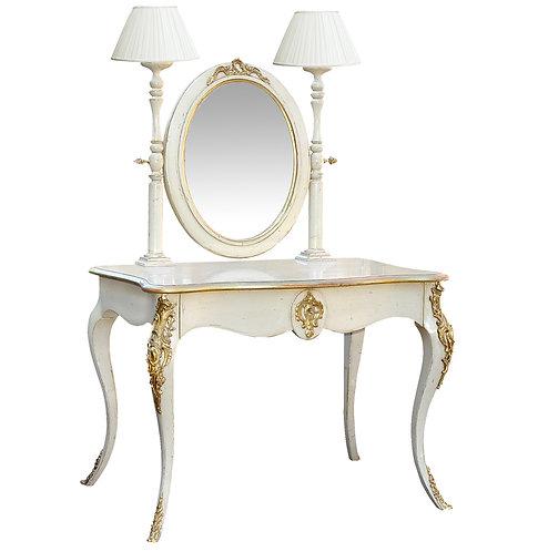 PARIS Napoleon III Dressing Table in Blanc