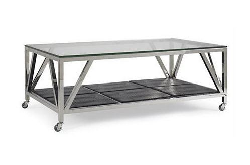 Stainless Steel Cocktail Table on Casters