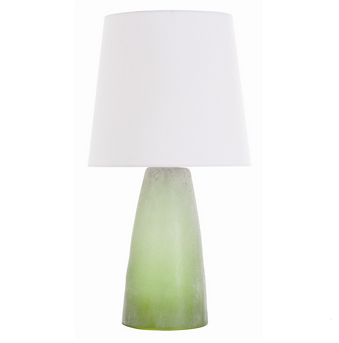 Green Envy Frosted Table Lamp