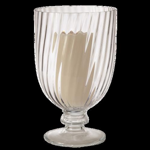 Swirled Clear Glass Hurricane / Vase