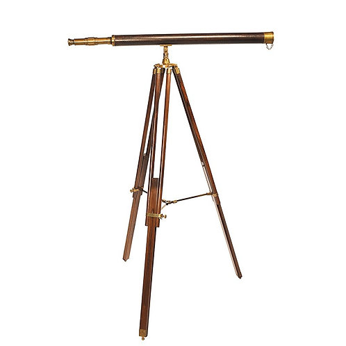 Rosewood and Brass Telescope