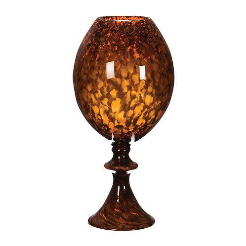 Pair Tortoise Globe Vase with Foot