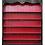 Thumbnail: PARIS Louis XV De Fontenoy Bookcase Tall in Noir / Carmine