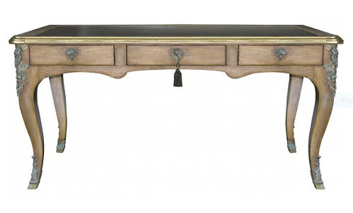 PARIS Louis XV Writing Desk in Stripped Oak