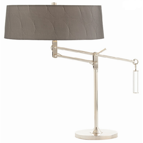 Swing Arm Desk Lamp with Gunmetal Gray Shade