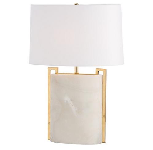 Greek Key Marble Lamp