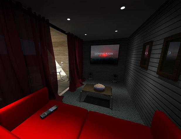 Home Cinema Garden Room Design