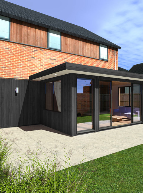 Attached Knightsbridge Garden Room with Black Composite Cladding - Image Garden Rooms