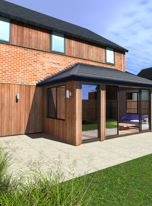 Attached Garden Room with Edwardian Style Roof - Image Garden Rooms