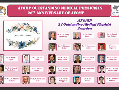 AFOMP Outstanding Medical Physicists Award on 20th Anniversary of AFOMP
