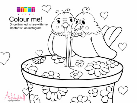 Free Birdies Colouring Page