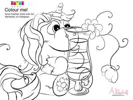 Free Unicorn Colouring Page