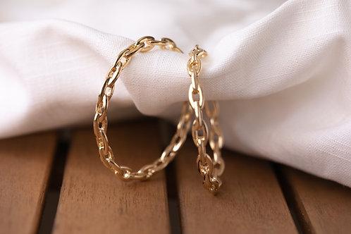 Chained Hoop Earrings