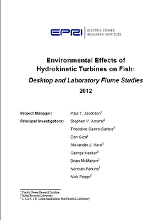 environmental effects of jydrokinetic turbines on fish EPRI