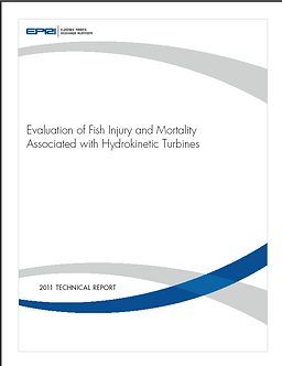 EPRI fish mortality hydro kinetic turbin