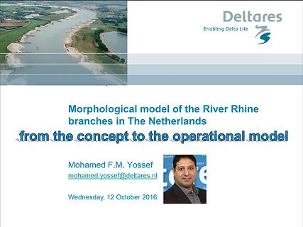 Morphological model of the River Rhine.P