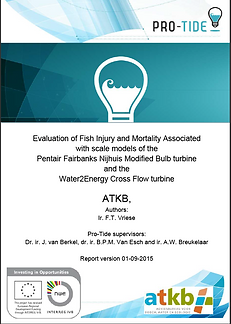 Evaluation of fish mortality Pro tide sm