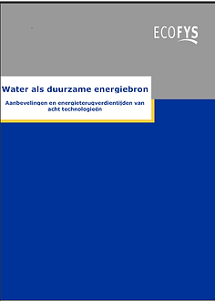 Water als duurzame energiebron Ecofys.pn