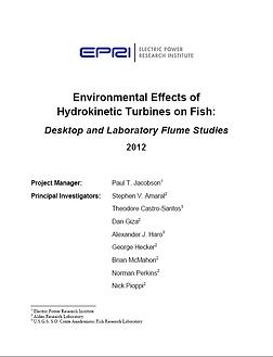 EPRI 2012 hydrokinetic turbines Small hy